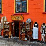 romania, Transylvania, a souvenir shop in Sighisoara