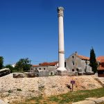 croatia, island of nin, the remains of a Roman temple to nin