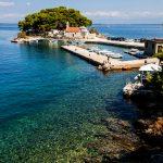 Savar peninsula with the church of San Pellegrino on the island of Dugi Otok in Croatia