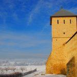 Romania, Suceava, veduta del Monastero di Dragormirna sulle coampagne circostanti | Romania, Suceava, view of the Monastery of Dragormirna on the surrounding countryside