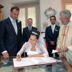 Foto matrimonio Cernobbio firma degli sposi