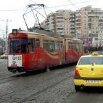 Romania, un vecchio tram in una via centrle di Iasi