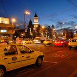 Romania, il centro di Iasi di sera