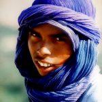 Marocco, ritratto di un giovane Beduino a Erfoud